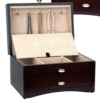 Ladies Wood Jewery Box with Drawer