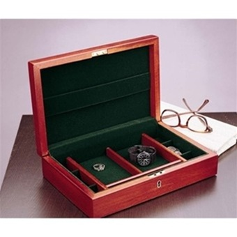 07e15d4dd Mens Jewelry Box - Locking Cherry Wood Valet - Handcrafted