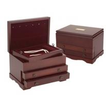 Colonial Mahogany Jewelry Box, Reed & Barton 646mr