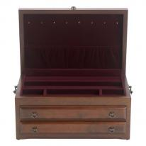 Regal Mahogany Jewelry Box, Reed & Barton Jewelry Boxes 663mr