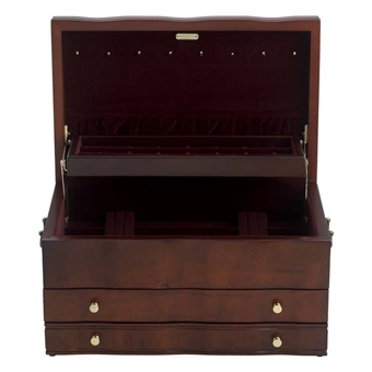 Mahogany Jewelry Box, Reed and Barton, Victoria 669mr