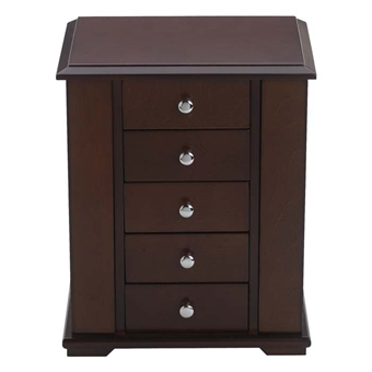 Mahogany Brielle Jewelry Box with velvet interior