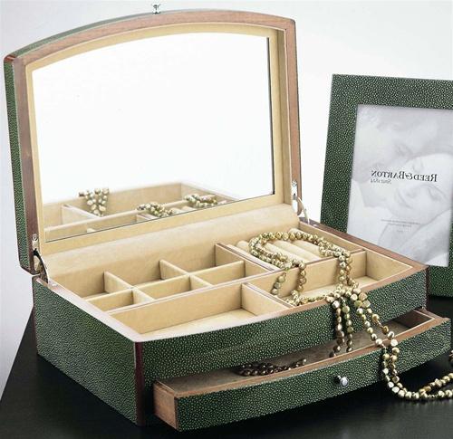 Unique Jade Green Luxury Jewelry Box