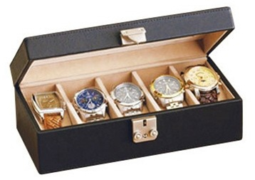Leather Watch Box Locking Multiple Watch Holder Jewelry Case