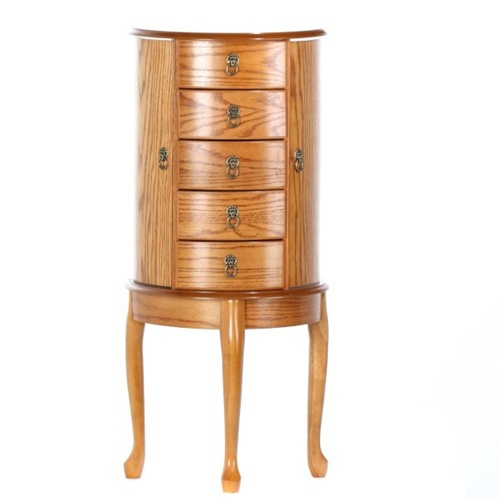 solid wood jewelry armoire large oak queen anne bombay jewelry chestfloor standing jewelry chest - Large Jewelry Armoire