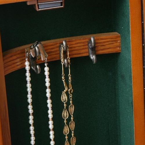 Jewelry Armoire Floor Standing Queen Anne Design