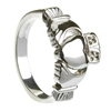Sterling Silver Traditional Heavy Men's Claddagh Ring 11.4mm