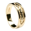 10k Yellow Gold Ladies Trinity knot Claddagh Ring 7.2mm