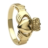 14k Yellow Gold No.3 Style Heavy Ladies Claddagh Ring 13mm