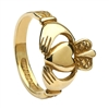 10k Yellow Gold No.4 Style Ladies Claddagh Ring 13.4mm