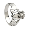 Platinum No.5 Style Heavy Men's Claddagh Ring 14mm