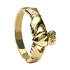 10k Yellow Gold Small Heavy Small Claddagh Ring 8.6mm