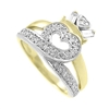 14k Yellow Gold Ladies Diamond Claddagh Ring 0.30cts