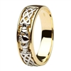 14k Yellow & White Gold Men's Claddagh Wedding Ring 5mm