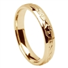 14k Yellow Gold Men's Claddagh Celtic Wedding Ring 5.5mm - Comfort Fit