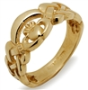 14k Yellow Gold Nua Celtic Claddagh Ring 8mm