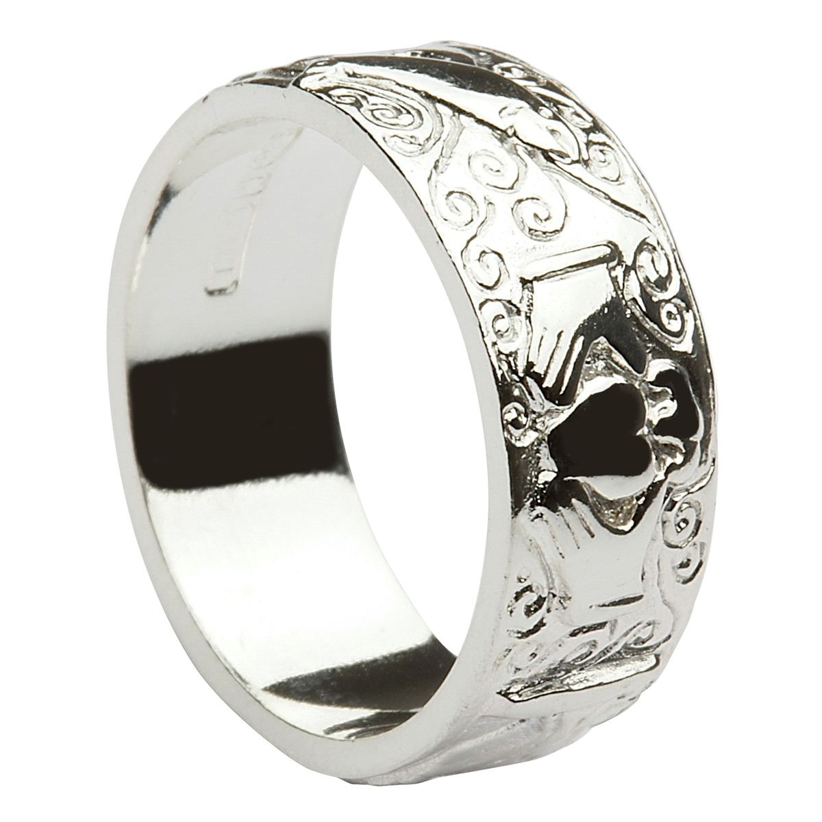 Sterling Silver Ladies Galway Claddagh Ring 6mm
