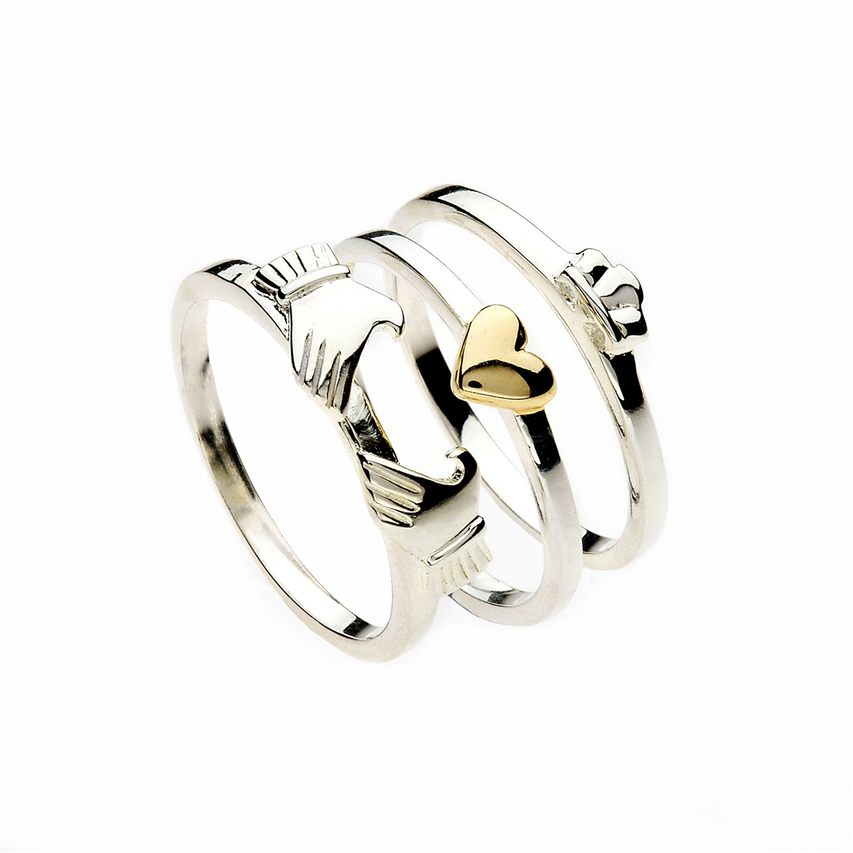 claddagh versions bands plain rings