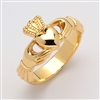 10k Yellow Gold Unisex Xtra Heavy Claddagh Ring 12mm