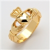 10k Yellow Gold Xtra Heavy Men's Claddagh Ring 13mm