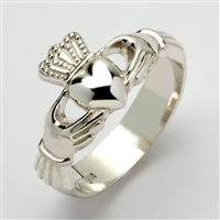 Sterling Silver Xtra Heavy Men's Claddagh Ring 13mm