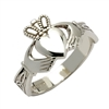 Sterling Silver Ladies Claddagh Ring With Trinity Knot Cuffs 11mm