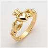 "14k Yellow Gold Heavy Men's ""Mo Chroi"" Claddagh Ring 11mm"