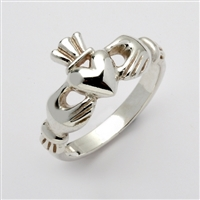 "Sterling Silver Ladies ""Mo Chroi"" Claddagh Ring 10.5mm"