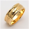 14k Yellow Gold Men's Claddagh Wedding Ring 7mm