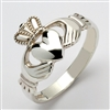 Sterling Silver Heavy Traditional Men's Claddagh Ring 13.5mm