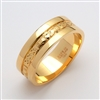 14k Yellow Gold Men's Claddagh Wedding Ring 6mm
