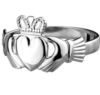 Sterling Silver Standard Men's Claddagh Ring 12.5mm