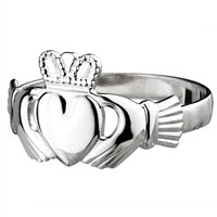 Sterling Silver Small Standard Claddagh Ring 9mm
