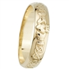 14k Yellow Gold Men's Narrow Claddagh Wedding Ring 5mm