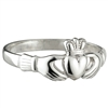 Sterling Silver Small Claddagh Ring 9mm