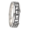 Sterling Silver Ladies Oxidized Celtic Claddagh Ring 5mm