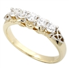 14k Yellow Gold Ladies Diamond Claddagh Eternity Ring