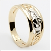10k Gold 2 Tone Ladies Claddagh Ring 8mm