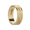 14k Yellow Gold Men's Claddagh Wedding Ring 7.2mm