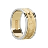 14k Yellow Gold Men's Claddagh Wedding Ring 9.9mm