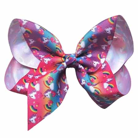 unicorn themed hair bows clips
