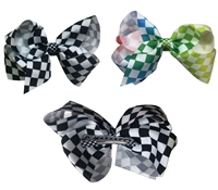 checks hair ribbons clips