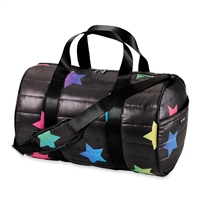 multi star Metallic Puffer Duffel bag