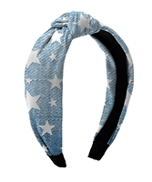 Denim Star Knot Headbands