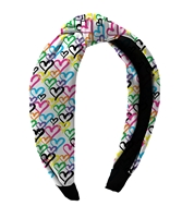Graffiti Heart Knot Headbands