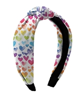Rainbow Heart Knot Headbands