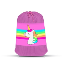 Unicorn Stripe Mesh Laundry Bag