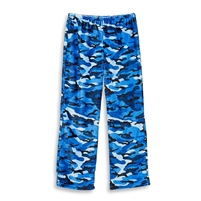 fuzzy  blue camoflauge  lounge pants
