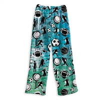 fuzzy  sports graffiti lounge pants