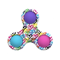 OMG! Mega Pop Fidgety Tri Spinner Graffiti Heart